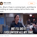 I VOLUNTEER! (Photo: Twitter)