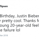 He's an international music star, a millionaire, and Selena's boyfriend. Meanwhile, here I'm, reading tweets about his birthday. (Photo: Twitter)