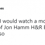 Say what you want about Jon Hamm in those H&R Block commercials—but y'all know this is true. (Photo: Twitter)
