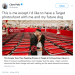 Forget about my husband—I want a photoshoot at Target with my dog! (Photo: Twitter)