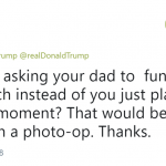 That would be more helpful than a photo-op. (Photo: Twitter)