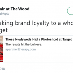 Target—please give this couples a trillion reward points. They deserve it. (Photo: Twitter)