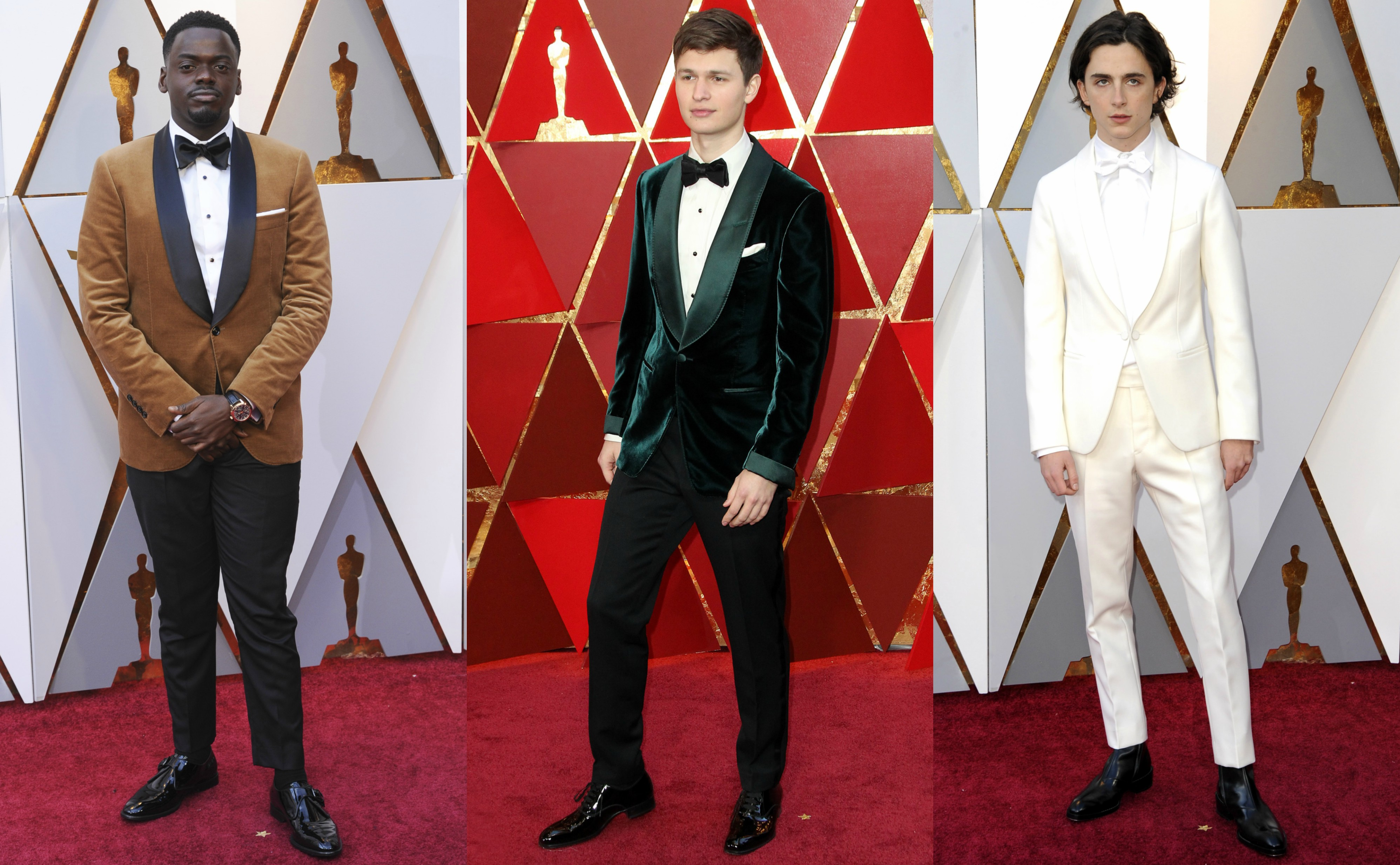 Male celebrities leapt away from red carpet predictably and wowed us with their daring fashion choices. (Photos: WENN)