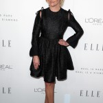 Reese rocked a head-to-toe black outfit at the 24th annual ELLE Women in Hollywood Awards wearing a waist hugging Calvin Klein patterned dress with matching heels. (Photo: WENN)