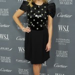 Reese was warded Wall Street Journal's Innovator of the Year wearing a black embellished Giorgio Armani dress with gathered sleeves and beading on the bodice. (Photo: WENN)