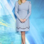 "Reese Witherspoon commanded attention in a power blue minidress by designer Elie Saab at the London Premiere of the movie ""A Wrinkle In Time."" (Photo: WENN)"