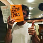 """Hilarious, confronting and damn refreshing"" Chris Hemsworth said of Mark Manson's brutally honest ""The Sublte Art of Not Giving a F*ck"". "" Amuch needed reality check about our personal problems, fears and expectations,"" the actor added. (Photo: Instagram)"
