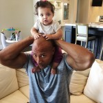 "Some fatherly advice from The Rock: ""Baby girl, when you grow up, you get out there and dent the universe thru hard work and sweat. And always make sure you do it in a positive way with class, dignity, and respect."" (Photo: Instagram)"