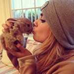 When Cara Delevingne acquired a new pet, an adorable rabbit named Cecil, she introduced him to her millions of insta-fans with this cute picture. (Photo: Instagram)