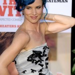 "The always spunky Juliette Lewis rocked out in bright blue hair at the premiere of her movie ""The Switch"" in 2010. (Photo: WENN)"
