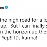 Blake Shelton's karma tweet has cause quite a stir on social media. (Photo: Twitter)