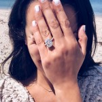 The actress posted a picture to her social media, showing off her huge engagement ring. (Photo: Instagram)