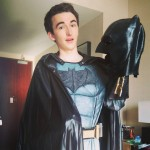 """In 2016, Isaac attended the San Diego Comic Con dressed up as Batman! He """"loved walking the convention floor"""" incognito. (Photo: Instagram)"""