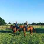 Being Blake Shelton's girlfriend seem to be having an influence on Gwen Stefani! She shared a picture with her country boyfriend riding horses in Oklahoma. (Photo: Instagram)
