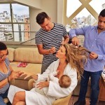 Gisele Bundchen serenely breastfeeding her baby without a care in the world, flanked by a hair and makeup team is the epitome of working mommy! (Photo: Instagram)