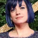 Lily Allen took her hair to the next level and matched it to her navy eyeliner at the 2015 British Fashion Awards. (Photo: WENN)