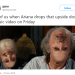 Is she preparing us for what's coming on Friday or what?! (Photo: Twitter)
