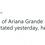 Ariana Grande has no tears left to cry after all those years of headaches. (Photo: Twitter)