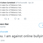White hat doesn't appreciate online bullying. (Photo: Twitter)