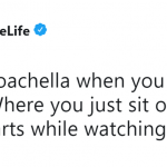 I'd choose couchella any day of the year! (Photo: Twitter)