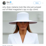I'm getting strong cartoon spy vibes over here. (Photo: Twitter)