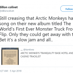 Only Artic Monkeys could get away with these crazy titles! (Photo: Twitter)