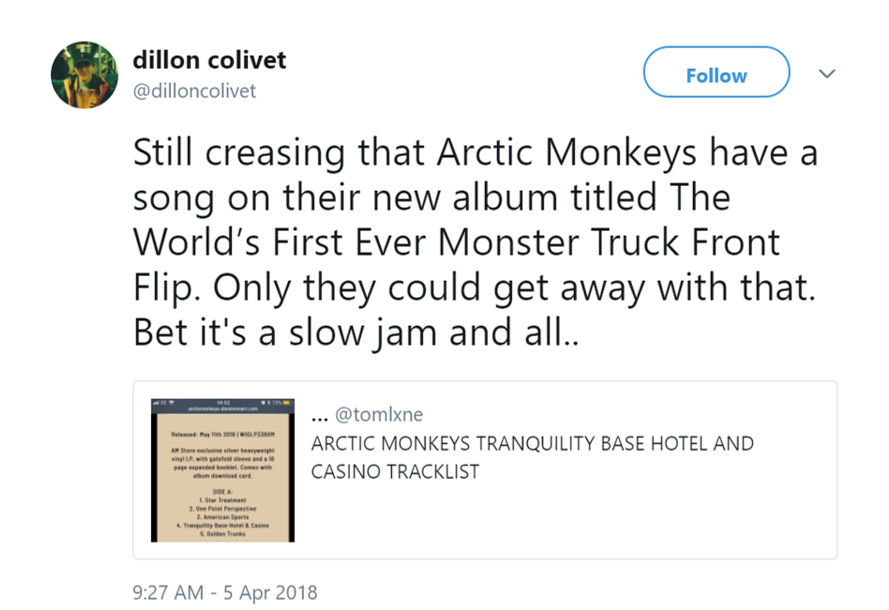 The Arctic Monkeys Announce New Album And The Song Titles