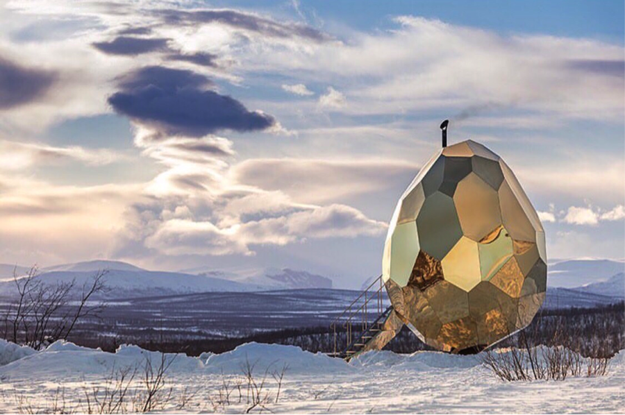 The Solar Egg - Kiruna, Sweden (Photo: Instagram)