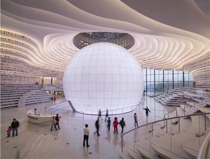 Tianjin Binhai Library – China (Photo: Instagram)