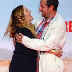 "No—this is not an unseen scene of ""50 First Dates."" It's just good friends Adam Sandler and Drew Barrymore hugging at the world premiere of the movie ""Blended."" (Photo: WENN)"