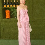 Hudson looked super feminine and sophisticated in a pink stripped maxi dress by Colombian designer Johanna Ortiz at the 8th Annual Veuve Clicquot Polo Classic. (Photo: WENN)