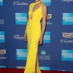 "Gadot picked up the ""Rising Star"" award at the 29th Annual Palm Springs International Film Festival Awards wearing a ultra-modern, sexy bright yellow dress by Esteban Cortazar. (Photo: WENN)"