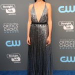Gadot looked stunning in a silver metallic dress by Prada that's equal parts sexy and chic at the 2018 Critic's Choice Awards red carpet. (Photo: WENN)