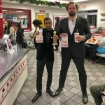 Celebratory burgers! After winning a Golden Globe, Aziz Ansari and Eric Wareheim kept the party going at their favorite fast food, In-N-Out. (Photo: Instagram)