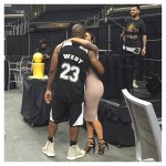 That time Kim arranged a West vs. East basketball match at the Staples Center to celebrate Kanye's birthday. (Photo: Instagram)