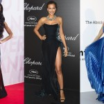 Let's take a look back at some of the celebrities who were brave enough to pull off the highest slits at Cannes red carpet this year. (Photos: WENN)