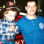 Davidson's father was firefighter Scott Davidson, who perished when the towers collapsed on Sept. 11, 2001. It's hard to believe that a person who lost their father at such a young age in that kind of tragedy could find the strength to move on, but Davidson did it. (Photo: Instagram)