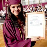 Selena Gomez was home schooled during her high school years, so we're not exactly sure where she received her diploma. Nevertheless, she did put on her maroon cap and gown in May 2010 and got her diploma! (Photo: Facebook)