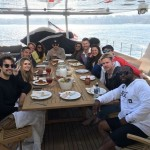 They watched Beauty and The Beast Live on Friday, an LA Dodgers game on Saturday, and went yacht partying on Monday too. (Photo: Instagram)