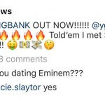 """You dating Eminem???"" one her fans asked Minaj, to which she simply responded, ""Yes."" (Photo: Instagram)"