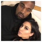 Kim and Kanye after a late night at the studio. (Photo: Instagram)