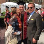 "Patrick Schwarzenegger graduated from the Marshall School of Business at USC in 2016. The actor thanked his parents saying: ""Wouldn't be anywhere without these two."" (Photo: Instagram)"