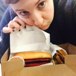 Lena Dunham is a fan of Shake Shack — and apparently doesn't want to have to choose between its hot dogs and cheeseburgers. (Photo: Instagram)