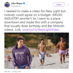 Well, mazel tov on your video, John Mayer! (Photo: Twitter)