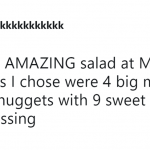 McDonald's salads are without a doubt the best salads. (Photo: Twitter)