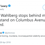 Mark Wahlberg eject bodily gasses, just like the rest of us. (Photo: Twitter)