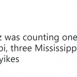How do you count to 5? Mississippi-lessly? (Photo: Twitter)