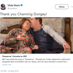 Viola Davis also took to twitter to praise Channing Dungey's decision to cancel the show. (Photo: Twitter)