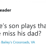 "He sure isn't playing the ""Take Care Of Your Son"" album. (Photo: Twitter)"
