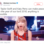 Katy and Taylor making peace is truly giving the world a much-needed hope! (Photo: Twitter)